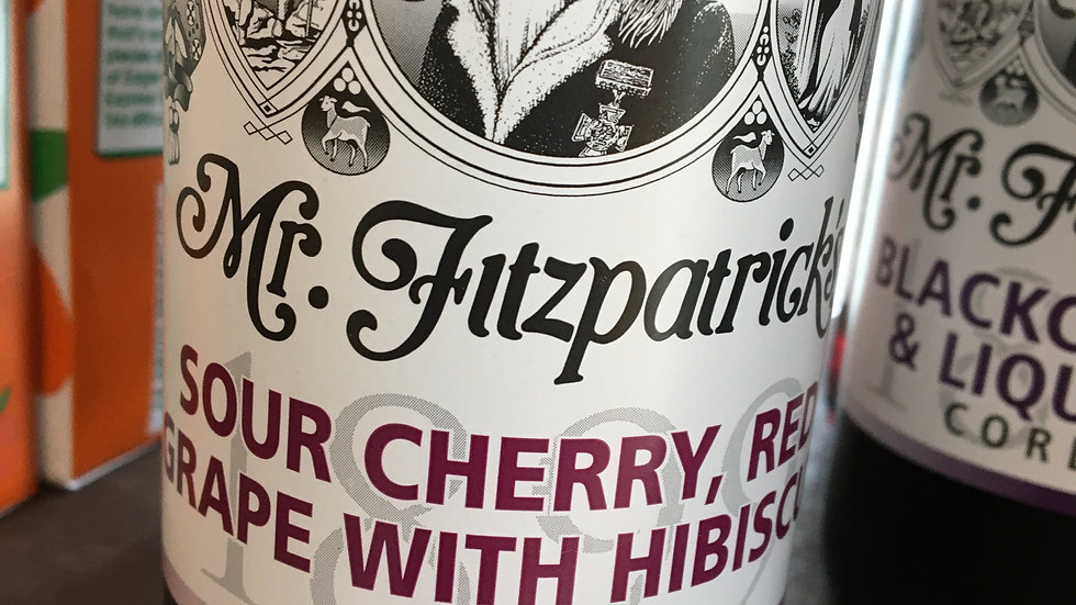 Mr Fitzpatrick's Sour Cherry, Red Grape & Hibiscus Cordial 500ml (£/each)