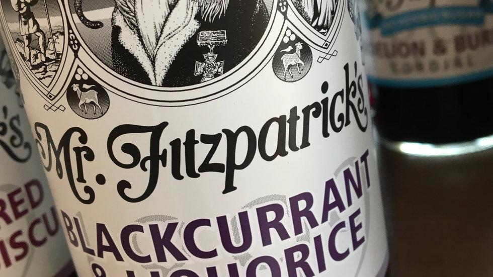 Mr Fitzpatrick's Blackcurrant & Liquorice Cordial 500ml (£/each)