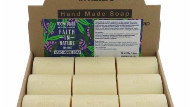Faith in Nature - Loose Soap Bar 100 grams - Tea Tree (£/each)
