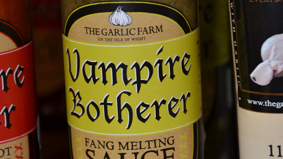 The Garlic Farm Vampire Botherer Chilli Sauce 150ml (£/each)