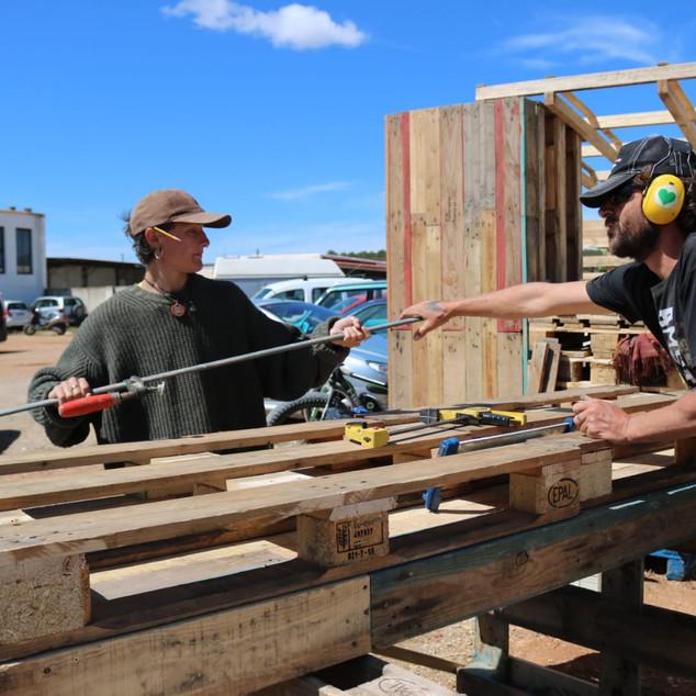 More panels under construction