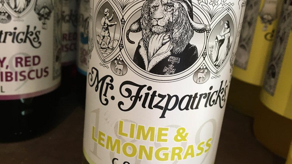 Mr Fitzpatrick's Lime & Lemongrass Cordial 500ml (£/each)