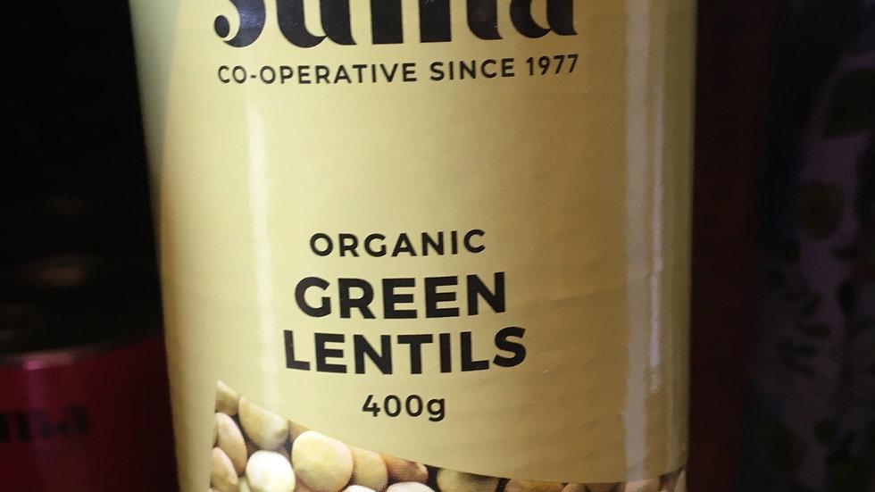 Suma Organic Green Lentils 400g (£/each)