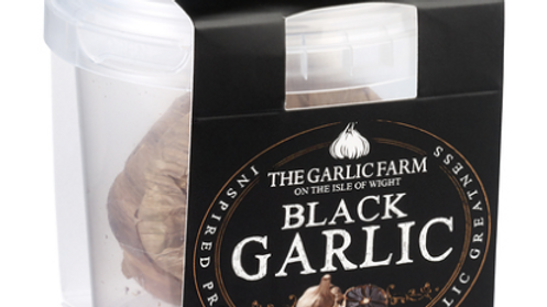 The Garlic Farm Black Garlic (Tub of 2 Bulbs) (£/each)