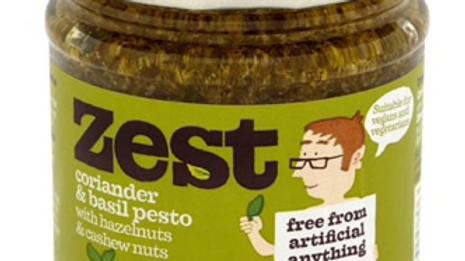 Zest Corriander & Basil Pesto with Hazelnuts and Cashew Nuts 165g (£/each)