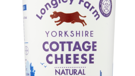 Longley Farm Yorkshire Natural Cottage Cheese 250g (£/each)