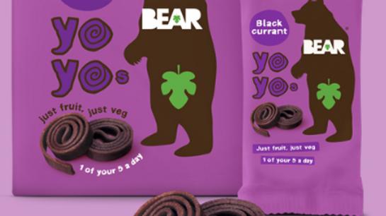Bear Yo Yos Real Fruit Blackcurrant Rolls 20g (£/each)