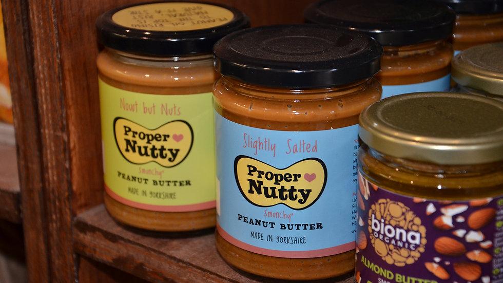 Proper Nutty - Slightly Salted Peanut Butter Jar (£/each)