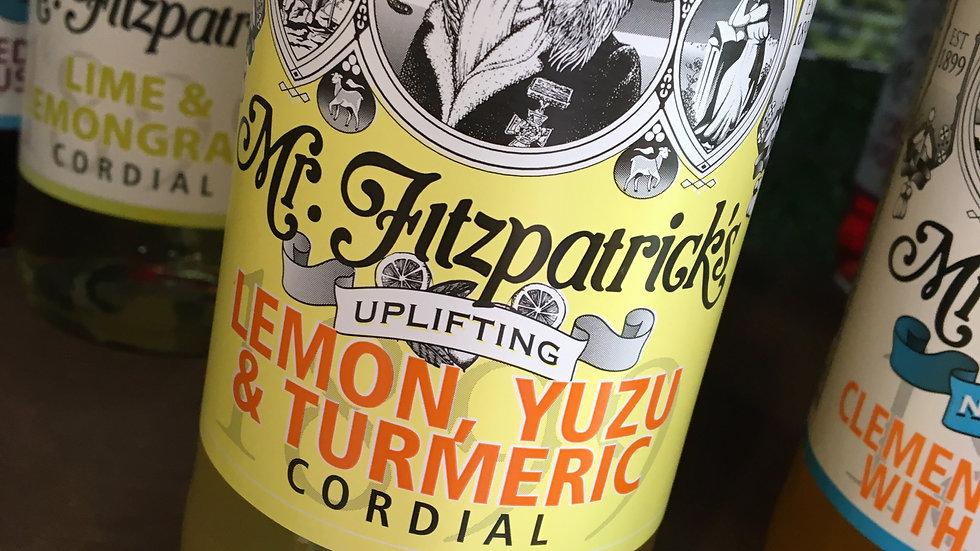 Mr Fitzpatrick's Lemon, Yuzu & Turmeric Cordial 500ml (£/each)
