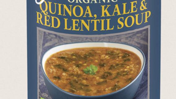 Amy's Kitchen Organic, Vegan & Gluten Free Quinoa, Kale & Red Lentil Soup 408g