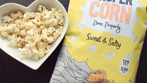 Proper Corn - Sweet & Salty Popcorn 90g (£/each)