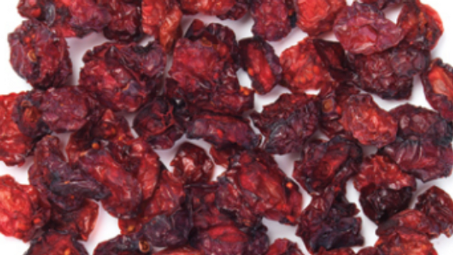 Dispensed Organic Unsweetened Dried Cranberries (£/100g)