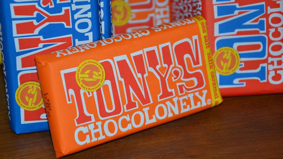 Tony's Chocolonely - Milk Chocolate Caramel with Sea Salt (£/each)