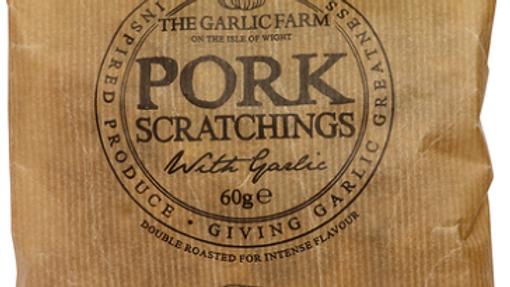 The Garlic Farm Pork Scratchings with Garlic 60g (£/each)
