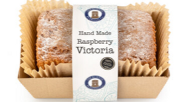 The Buxton Pudding Company Handmade Raspberry Victoria Loaf Cake 570g (£/each)