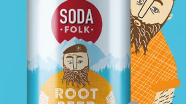 Soda Folk Root Beer 330ml (£/each)