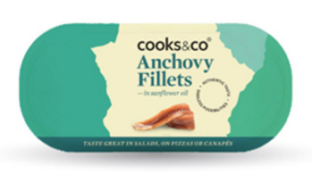 Cooks & Co Anchovy Fillets in Sunflower Oil 50g (£/each)