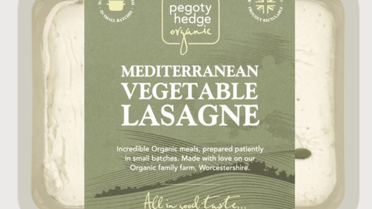 Pegoty Hedge Organic Mediterranean Vegetable Lasagne 400g (£/each)
