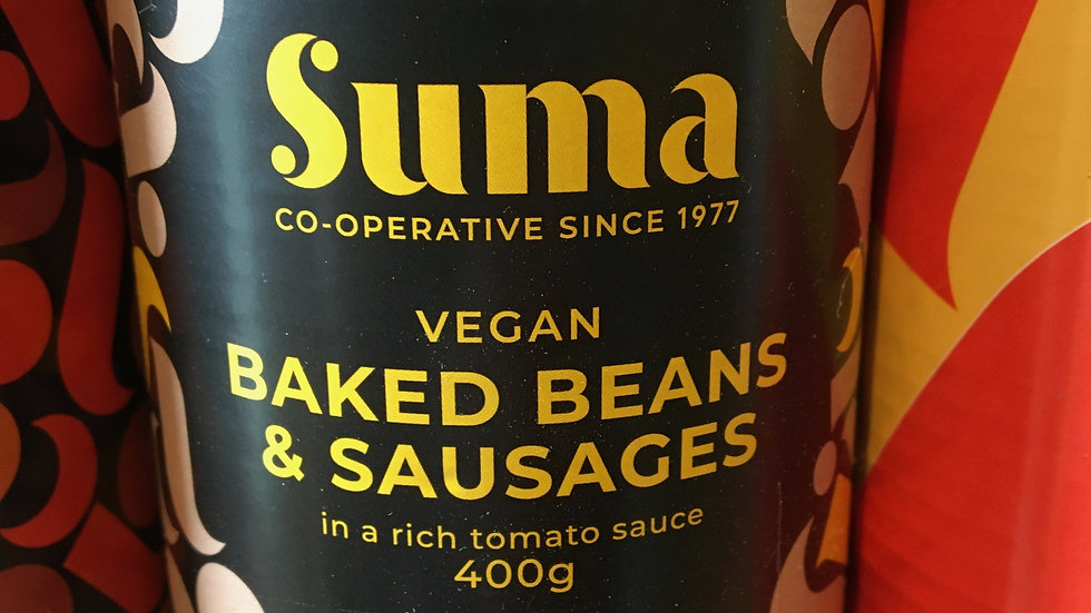 Suma Beans & Vegan Sausages 400g (£/each)