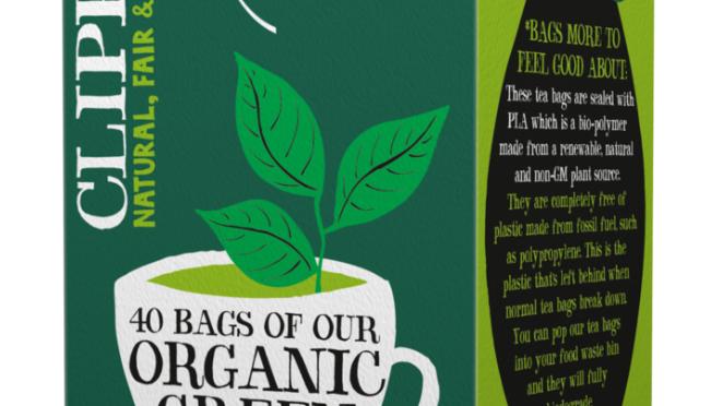 Clipper Teas - Organic & Fairtrade Green Tea  - 40 bags (£/pack)