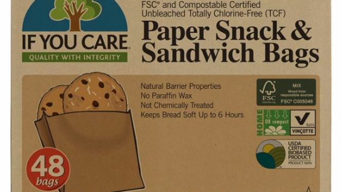 If You Care Paper Snack & Sandwich Bags 48 per pack (£/pack)