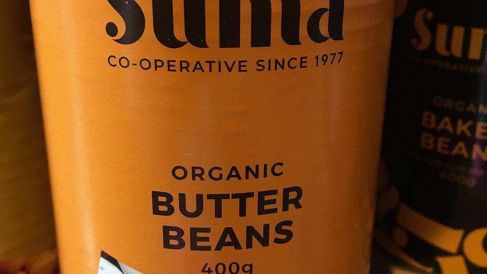 Suma Organic Butter Beans 400g (£/each)