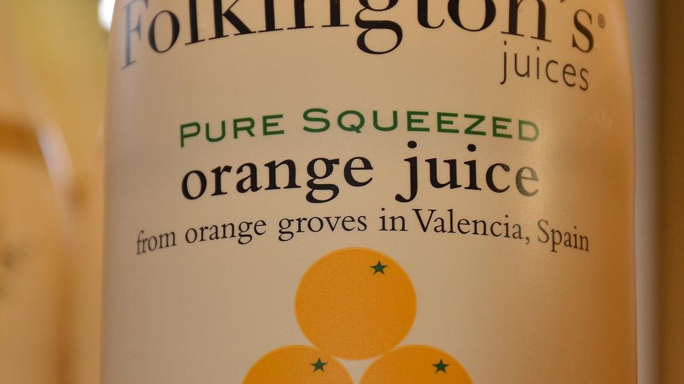 Folkington's Pure Squeezed Orange Juice 1 litre (£/each)