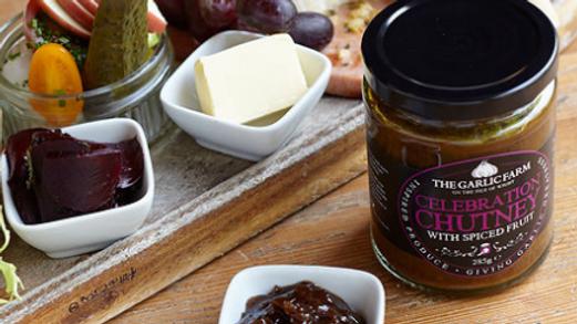 The Garlic Farm Celebration Chutney with Spiced Fruit 285g (£/each)