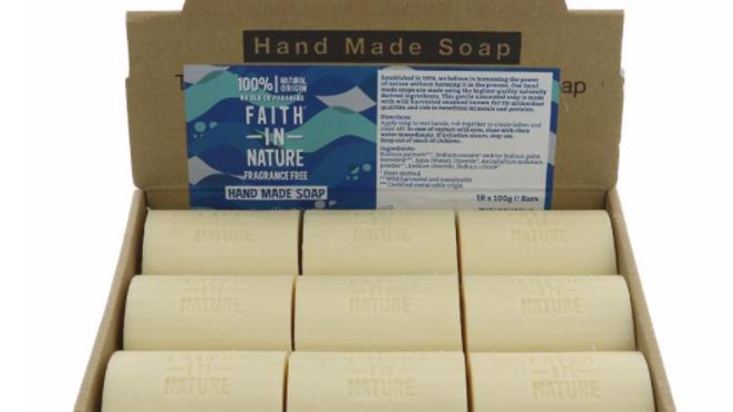 Faith in Nature - Loose Soap Bar 100 grams - Fragrance Free (£/each)