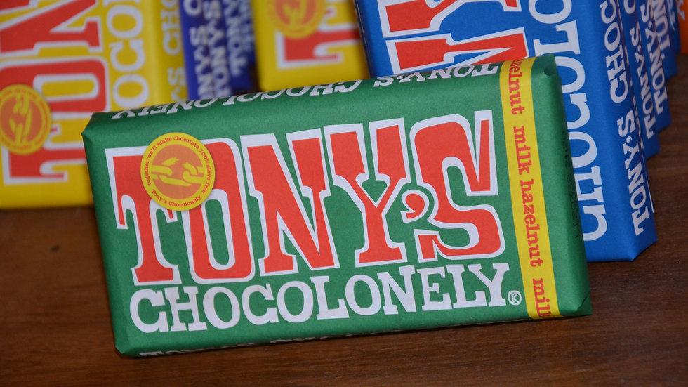 Tony's Chocolonely - Milk Chocolate with Hazelnut (£/each)