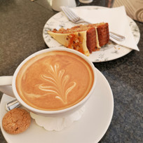 Coffee and Cake from The Orangery Tea Room.
