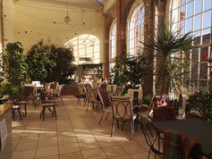 The Orangery Tea Room inside.