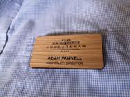 Wooden badge.