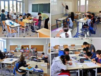 小中学部授業風景/ボランティアさん活躍