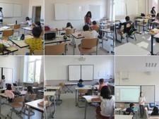 小中学部 2学期最初の授業風景