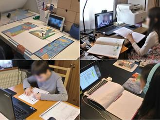小中学部 オンライン授業風景