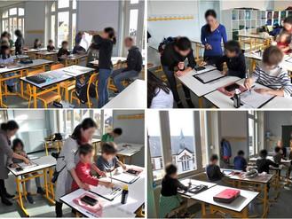 放課後の活動〜毛筆習字