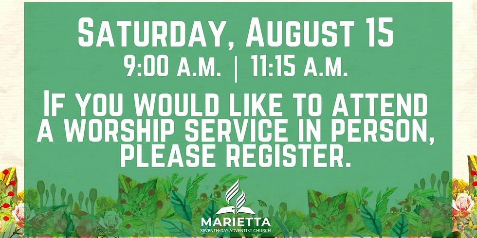 August 15, 2020 - Church Registration