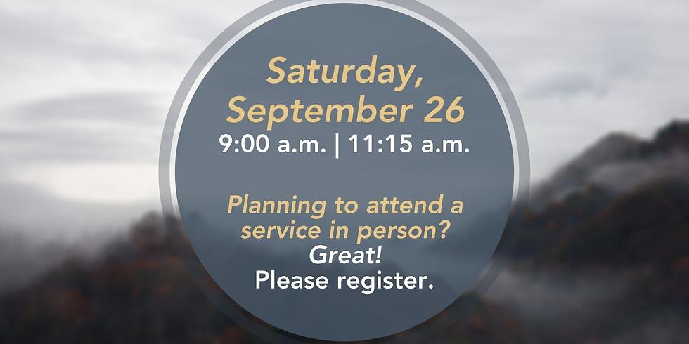 September 26, 2020 - Church Registration