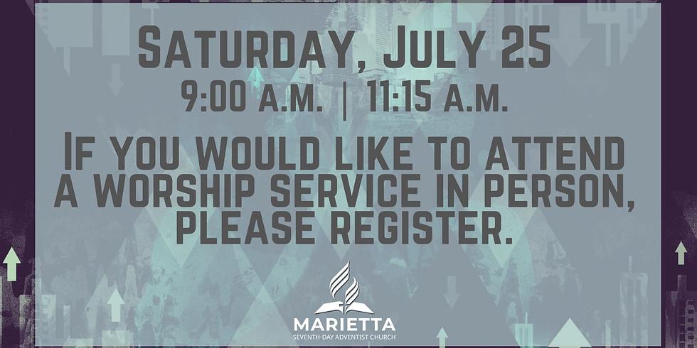 July 25 Church Registration