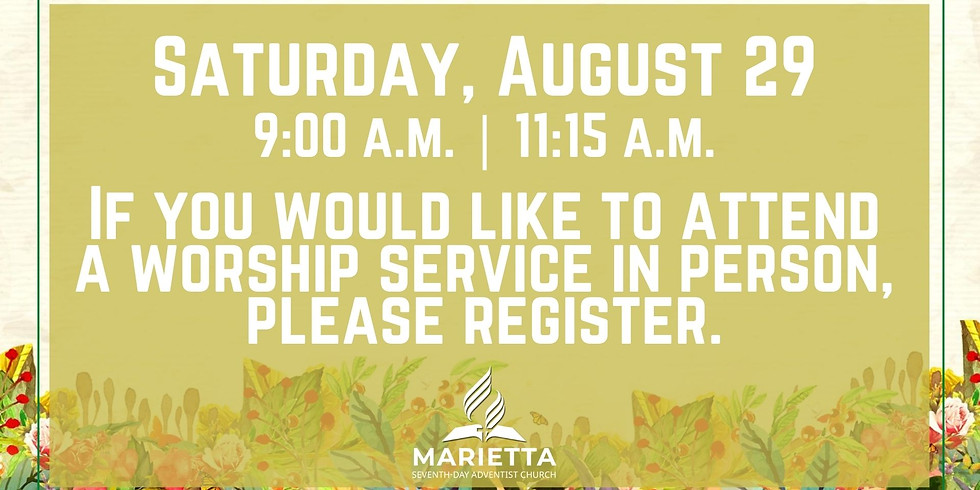 August 29, 2020 - Church Registration