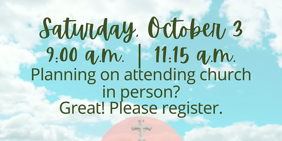 October 3, 2020 - Church Registration