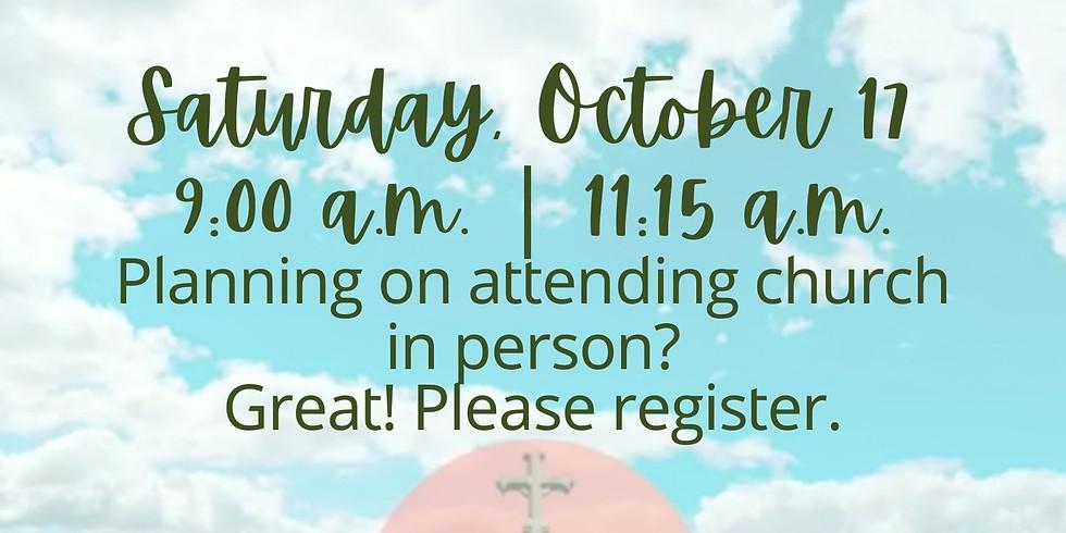 October 17, 2020 - Church Registration