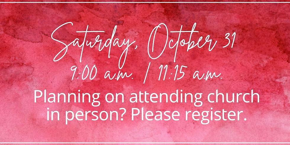 October 31, 2020 - Church Registration
