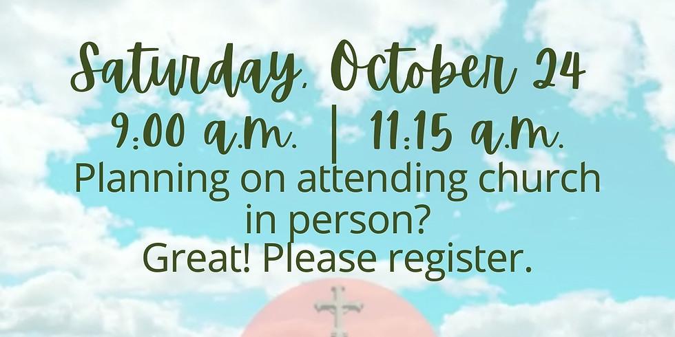 October 24, 2020 - Church Registration