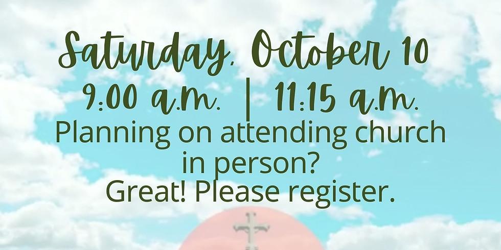 October 10, 2020 - Church Registration