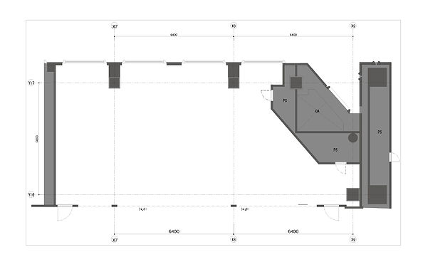 歯科内装デザインの設計図