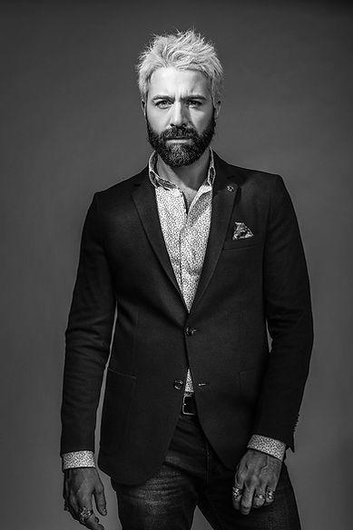 benson cherry modele chemise motif blazer noir classique homme mature