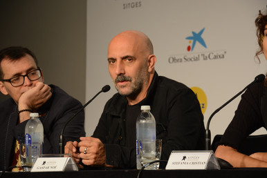 El director del film al costat del director del festival, Ángel Sala