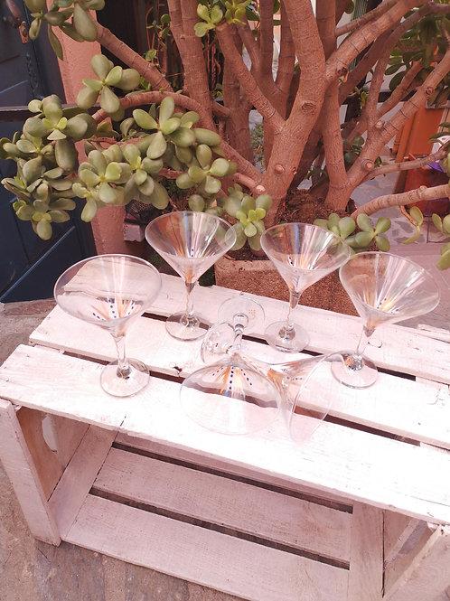 Bouquet 6 Coupes forme cocktail - Couleur au choix